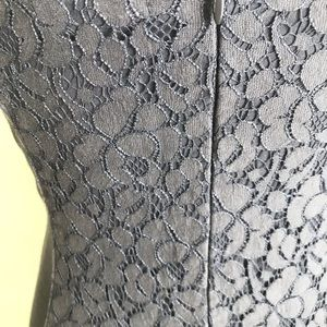 American Eagle Outfitters Dresses - American Eagle Outfitters Gray Lace Fitted Dress 4